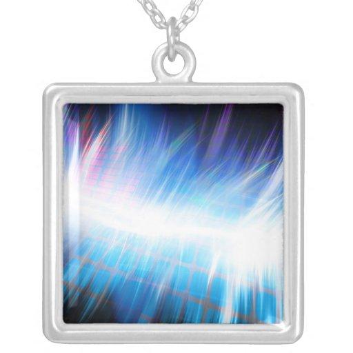 Glowing Audio Waveform Necklace