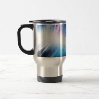 Glowing Audio Waveform Travel Mug