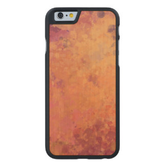 Glowing Autumn Branch Watercolor Carved Maple iPhone 6 Case