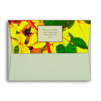 'Glowing Autumn Leaves' Envelopes