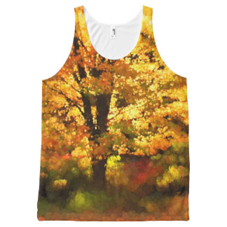 Glowing Autumn Tree Painting All-Over Print Tank Top