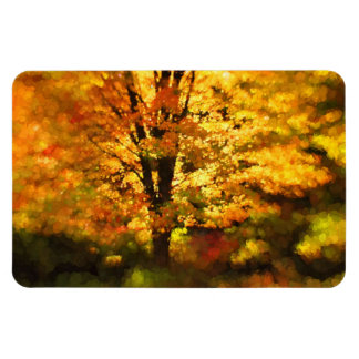 Glowing Autumn Tree Painting Magnet