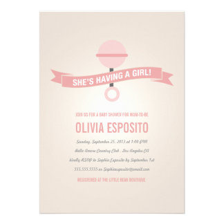 GLOWING BABY SHOWER INVITATIONS