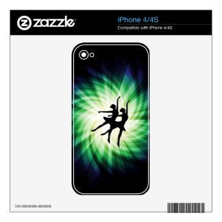 Glowing Ballerinas iPhone 4 Skins