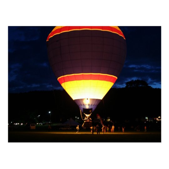 Glowing balloon, ufo postcard