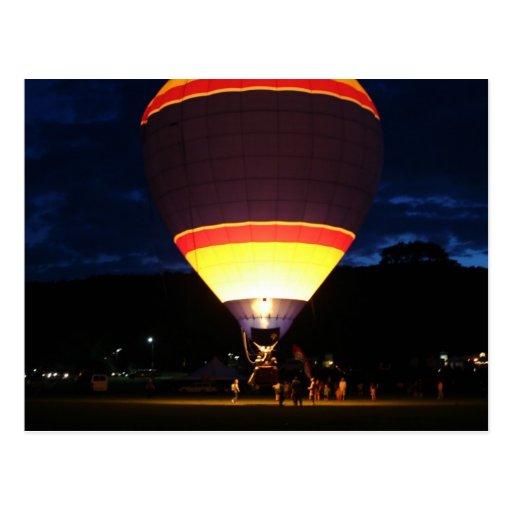 Glowing balloon, ufo postcards