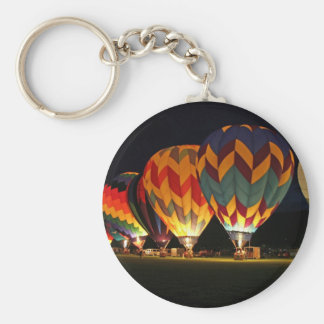 Glowing Balloons!  Light up the night! Basic Round Button Keychain