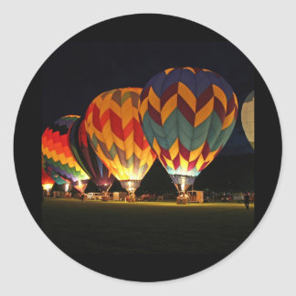 Glowing Balloons!  Light up the night! Classic Round Sticker