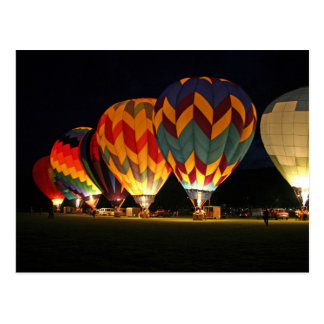 Glowing Balloons!  Light up the night! Postcard