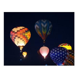 Glowing Balloons Postcard