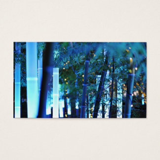 Glowing Bamboo in Tokyo, Japan. Business Card