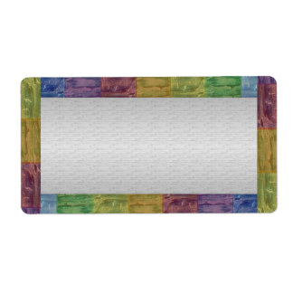 Glowing Basic Color Border Silver Base Label