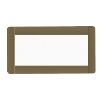 Glowing Basic Color Border  Template Label