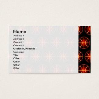 Glowing basketballs pattern business card