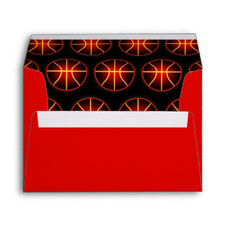 Glowing basketballs pattern envelope