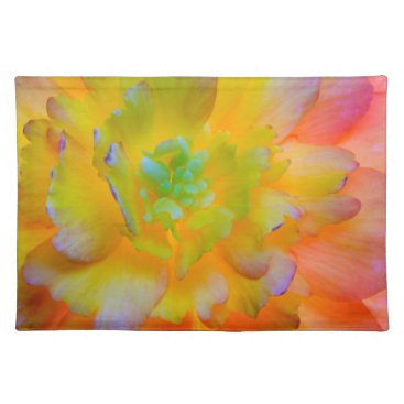 USA Themed Glowing Begonia Blossom | Seabeck, WA Cloth Placemat