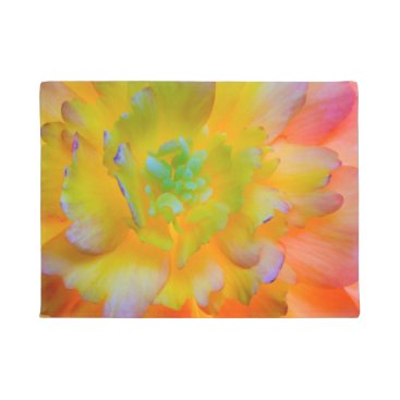 USA Themed Glowing Begonia Blossom | Seabeck, WA Doormat
