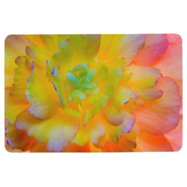 USA Themed Glowing Begonia Blossom | Seabeck, WA Floor Mat