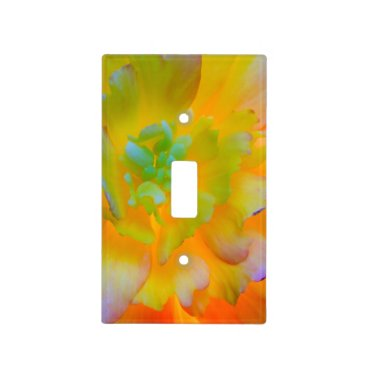 USA Themed Glowing Begonia Blossom | Seabeck, WA Light Switch Cover