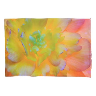 USA Themed Glowing Begonia Blossom | Seabeck, WA Pillow Case