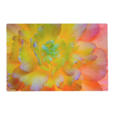 USA Themed Glowing Begonia Blossom | Seabeck, WA Placemat