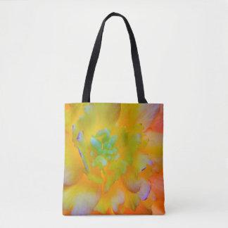 Glowing Begonia Blossom | Seabeck, WA Tote Bag