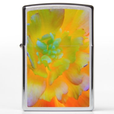 USA Themed Glowing Begonia Blossom | Seabeck, WA Zippo Lighter