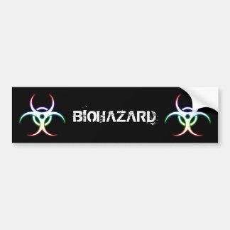 Glowing Biohazard Symbol - Bumper Sticker Car Bumper Sticker
