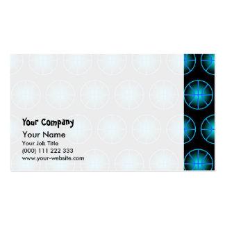Glowing blue basketballs business card