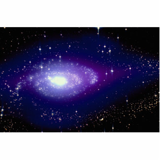 Glowing blue galaxy photo cut outs