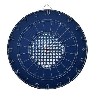 Glowing Blue Honeycomb Design Dartboard With Darts