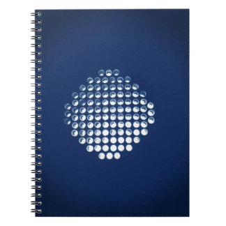 Glowing Blue Honeycomb Design Notebook