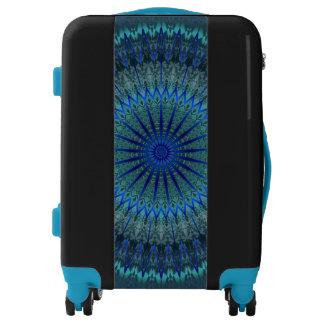 Glowing Blue Mandala Luggage