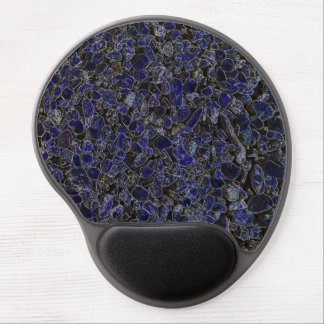 Glowing Blue Sapphire Like Stones from Outer Space Gel Mouse Pad