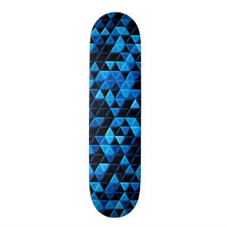 Glowing Blue Tiles Skateboard Deck