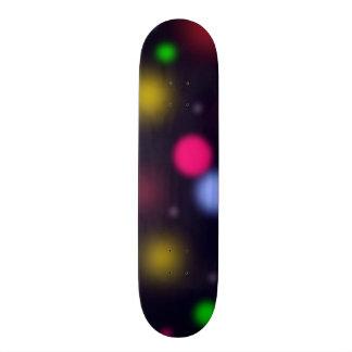 Glowing Bokeh Skateboard Deck