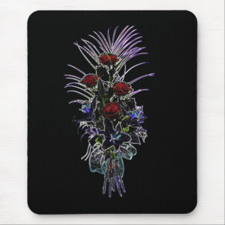 Glowing Bouquet Of Roses And Fern Flowers Mousepad