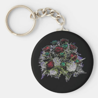 Glowing Bouquet Of Roses Keychain