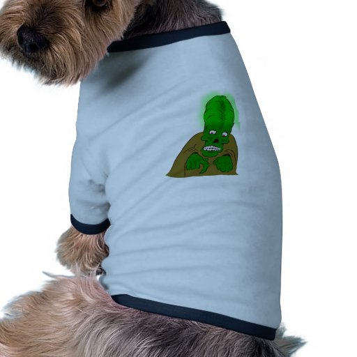 Glowing Brain Alien Pet Tee Shirt