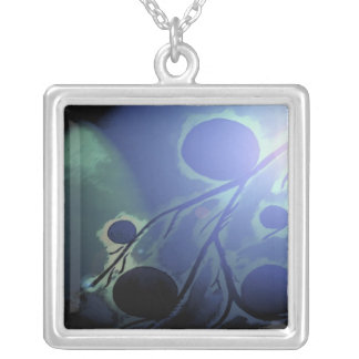 Glowing Branch Square Pendant Necklace