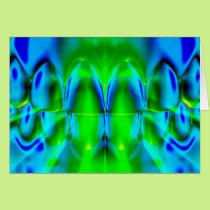 Glowing Bright Color Teeth Dental Art Card