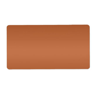 Glowing Brown  Template Label