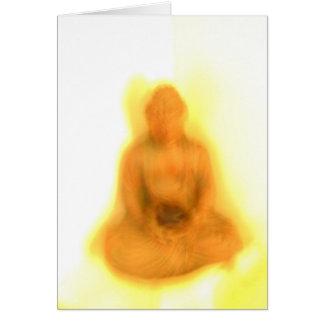 Glowing Buddha Greeting Card