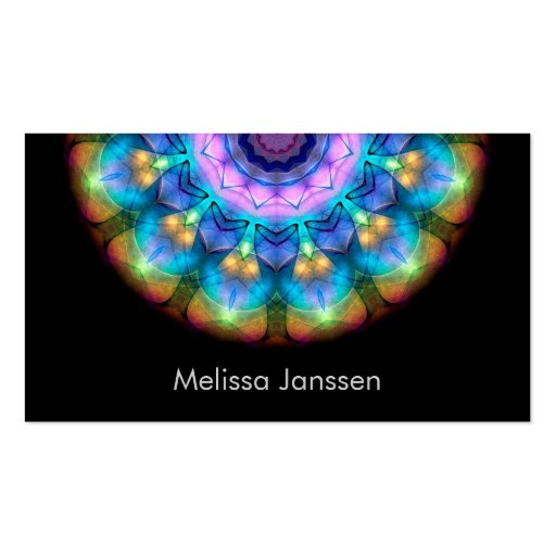 Glowing Burnt Glass -Mandala- Business Cards