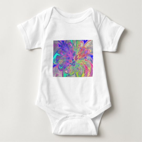 Glowing Burst of Color Baby Bodysuit