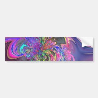Glowing Burst of Color Bumper Sticker