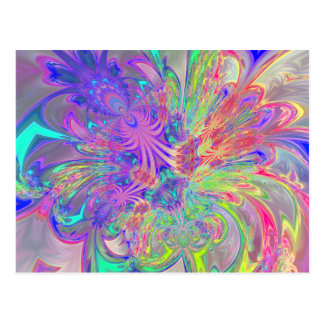 Glowing Burst of Color Postcard
