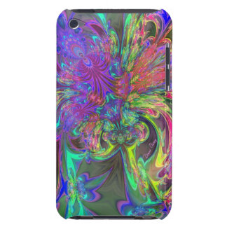 Glowing Burst of Color – Teal & Violet Deva Barely There iPod Cover