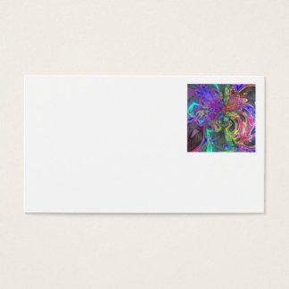 Glowing Burst of Color – Teal & Violet Deva Business Card