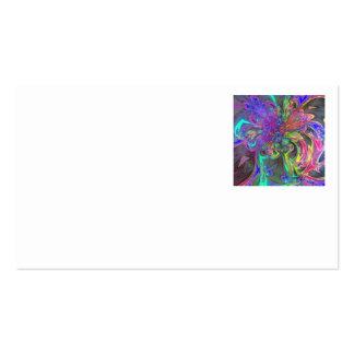 Glowing Burst of Color – Teal & Violet Deva Business Cards